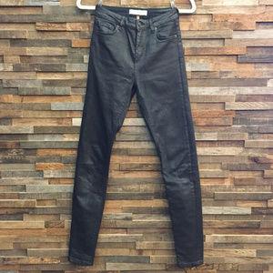🇬🇧 Topshop Jamie Black Coated Skinny Jeans
